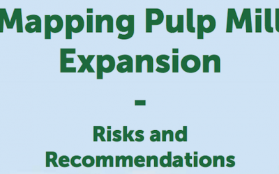European EPN publishes a threat atlas for new pulp mill expansion