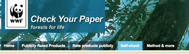 "WWF´s ""Environmental Self-check"" – a free and confidential service for pulp and paper producers"