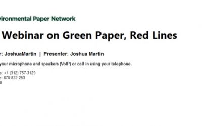 EPN Webinar on Green Paper, Red Lines