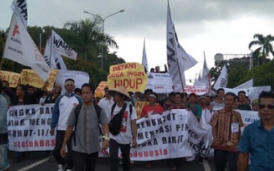 Farmers protest against potential new APP supplier in Sumatra