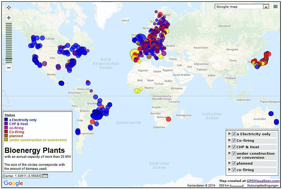 Biomass Facility Map